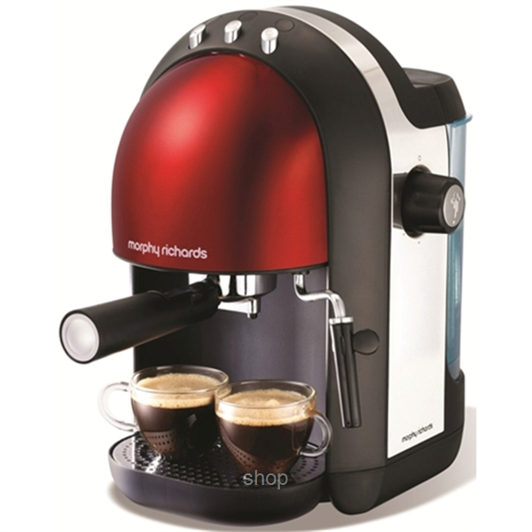 Morphy Richards Accents Espresso Maker Red - 172002-0
