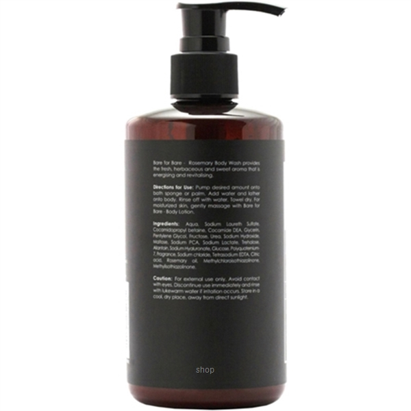 Bare For Bare Rosemary Body Wash with Pure Essential Oil 300ml-1