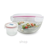 [Clearance] Glasslock 2000ml Mixing Bowl + 160ml Round Container - GL1741