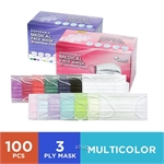 [MULTI COLOR] MEHKO Disposable 3ply Medical Face Mask Twin Pack (100pcs/Ear-loop/Individual Pack)