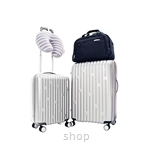 American Tourister SALINAS 5 PC Set Luggage 20 Inch + 26 Inch (Silver)