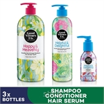 [Bundle of 3] GVC Healthy Hair and Scalp Shampoo Types 700ml + Healthy Hair and Scalp Conditioner Types 300ml + Multiple Repair Hair Serum 100ml