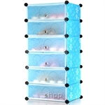 Tupper Cabinet 6 Cubes Blue Flower DIY Shoe Rack Blue Flower