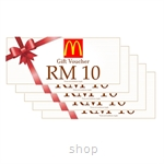 McDonald's Dining Voucher RM50 (RM10 x 5pcs)