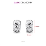 Lazo Diamond 9K White Gold Hoop Earrings - 8E2238