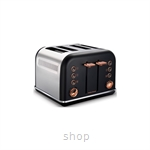 Morphy Richards Accents Rose Gold Toaster Black - 242104