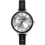 Hush Puppies Orbz Black Leather Strap Women Watch - HP.3831L.2502