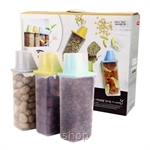 Easy & Free Grain Guard-2 (3x1250ml Container with Measurement Cup + 400ml Container) Container Set (Assorted Color)