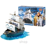 Dlittle Anime One Piece Marine Ship Model