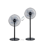 Elba 16 Inch 2-In-1 Convertible Stand And Living Fan - ESF-H1648(BK)