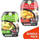 [Bundle Pack] ChimDoo Chicken Panang Curry and Thai Jasmine Rice 260g + Green Curry with Chicken and Thai Jasmine Rice 260g
