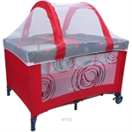 Bumble Bee 2 Levels Bassinet Playpen Classic Red with FREE GIFT - HW0014-PKG