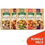 [BUNDLE] Bruschette Maretti Garlic + Vegetables + Tomato + Mushroom + Pizza (5's x 70g)