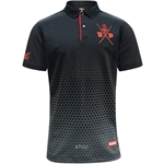 FBT Deadpool Movie Polo Black/Red - 12P1207BR