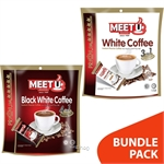 Meet U Premium Gold Combo 1 : White Coffee 3 In 1  (10 x 20gm) + Black White Coffee 4 In 1 (10 x 20gm)