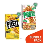 [BUNDLE] Glico Pretz Pizza 10's x 31gm + Sweet Corn 10's x 31gm