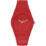 Guess W0979L3 Unisex Retro Pop Red Silicone Strap Watch