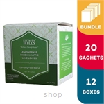 [Carton Packaging] Rhymba Hills Lemongrass  - Blend of Lemongrass Kaffir Lime Leaves and Pandan (20 Sachets) - 12 Boxes