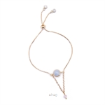 Kelvin Gems La Luna Aquamarine Adjustable Bracelet - Blue