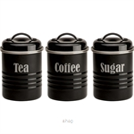 Typhoon Vintage Set of 3 Small Canisters (Black) - TP-1400.582