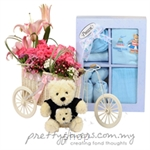 Pretty Flowers Gift Basket - GB009