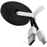 Skyblue Rubbery 2 (Android) Premium Micro USB Data Cable 100cm Black