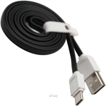Skyblue Rubbery 2 (Type-C) Premium USB Data Cable 100cm Black