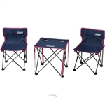 Coleman Table & Chairs Set Steel Navy - 2000011513
