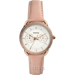 Fossil Women Tailor Multifunction Blush Leather Watch - ES4393