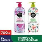 [Bundle of 2] GVC Clarifying Hair and Scalp Shampoo for Oily Hair + Lightening & Hydrating Shower Cream (700ml)