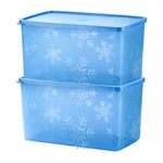 Tupperware Snowflake Double Square Round (2pcs) 2.8L - A2864