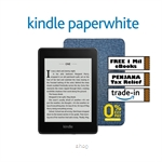 Kindle Paperwhite (10th Gen) 8GB –Includes Special Offers + Stylish OEM Grey Case + Screen Protector + Free 1 Million Kindle eBooks (6 Mths)