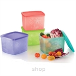 Tupperware Snowflake Square Round (4pcs) 800ml - 11127175
