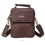 Kickers Genuine Leather Crossbody Sling Bag with Hand Carry Handle (Brown) - KK03-IC78504S