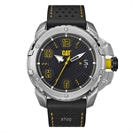 Caterpillar Construct Black Leather Strap - DW14134131