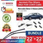 Bosch Aerotwin Plus Wiper Blade Set (22+22 inch) Mercedes Benz C-Klasse [205] 12.13-10.14