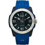 Reebok Barbell Blue Silicone Strap Men Watch - BAR-G2-CBIB-B1
