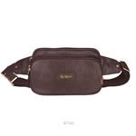 Kickers Genuine Leather Waist Bag with 3 Large Pocket (Brown) - KK02-IC78507S
