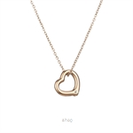 Celovis CNY 2021 - Darling Heart Frame Pendant with Diamond on Rose Gold Chain Necklace
