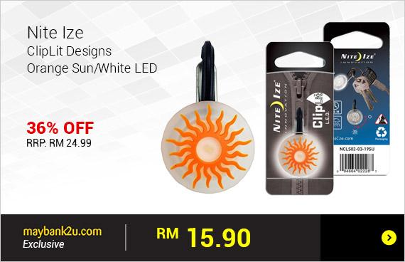 Nite Ize ClipLit Designs - Orange Sun/White LED