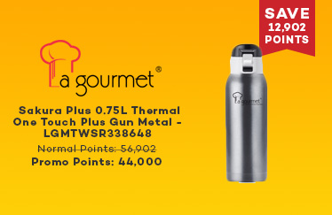 La gourmet Sakura Plus 0.75L Thermal One Touch Plus Gun Metal - LGMTWSR338648
