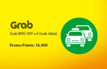 Grab RM5 OFF x 6 Grab ride(s)