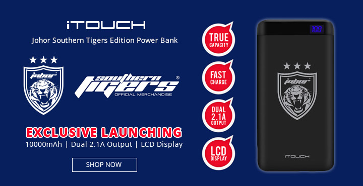iTouch Johor Southern Tiger Edition Power Bank